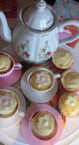 Teapot and cakes
